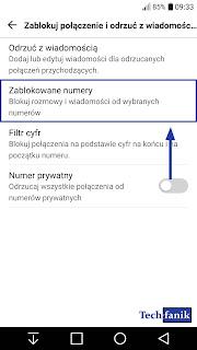 LG zablokowane numery