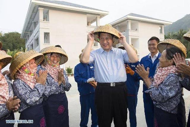 Ông Tập Cận Bình thăm làng chài Đàm Môn