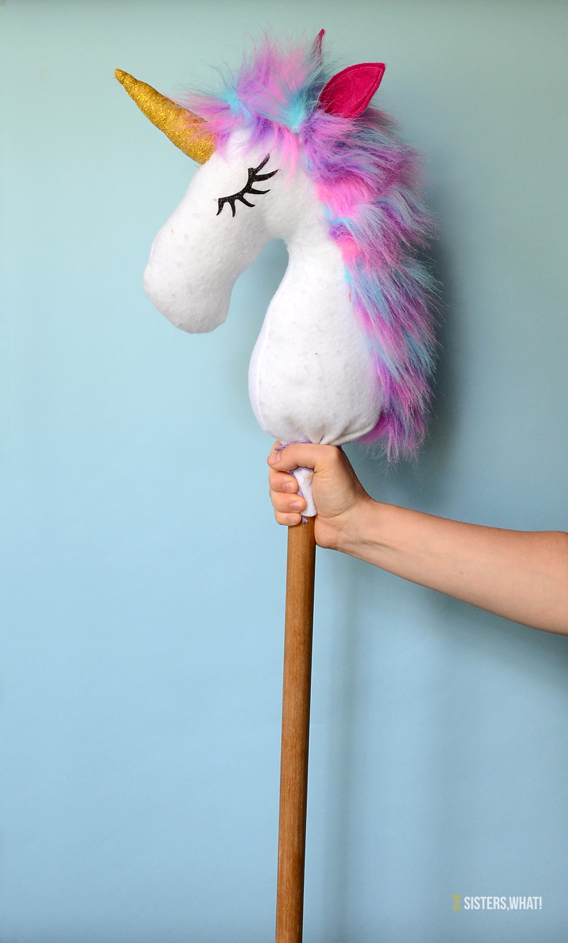 colorful unicorn hobby horse toy horse diy