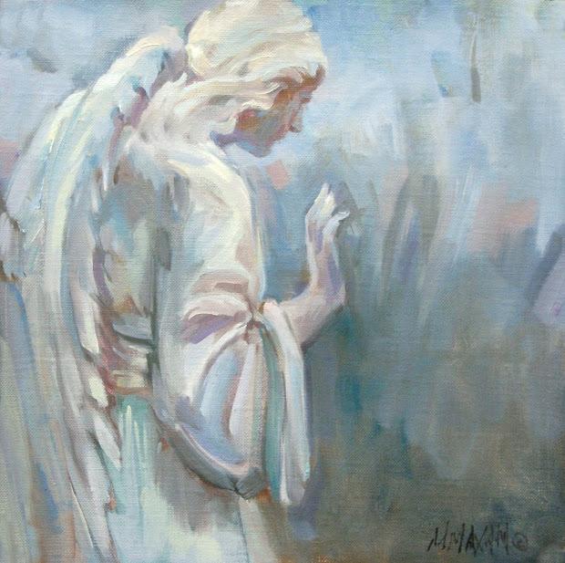 Garden Angel Painting