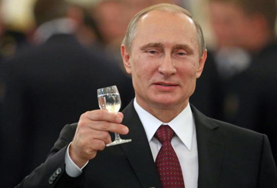 Putin's cheers