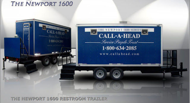 The Newport 1600 VIP Restroom Trailers for your Graduation Celebration