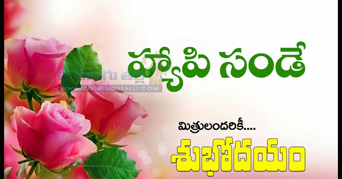 Happy Sunday Quotes Images Best Telugu Good Morning Quotes Greetings  Wallpapers | Www.JaiTeluguTalli.com