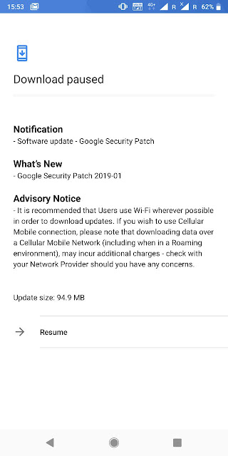 Nokia 7 plus receiving January 2019 Android Security update