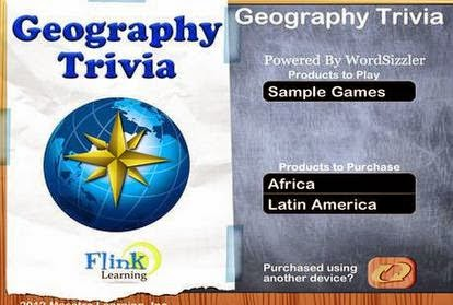 Game iOS Menebak Afrika & Amerika Latin: Geography Trivia Wordsizzler