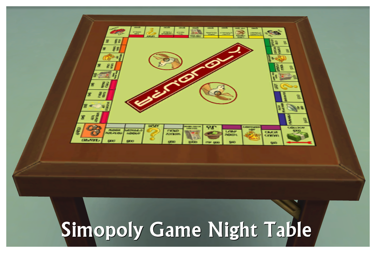 My Sims 4 Blog: Game Night Tables By SimDoughnut