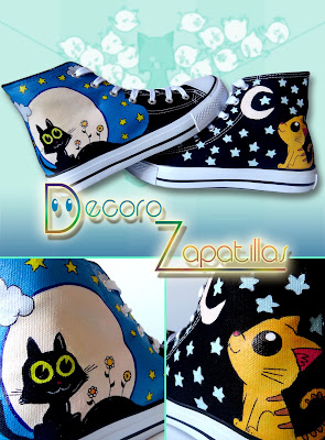 CUTE CATS CUSTOM SHOES HANDPAINTED