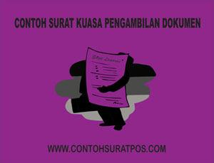 Gambar untuk Contoh Surat Kuasa Pengambilan Dokumen
