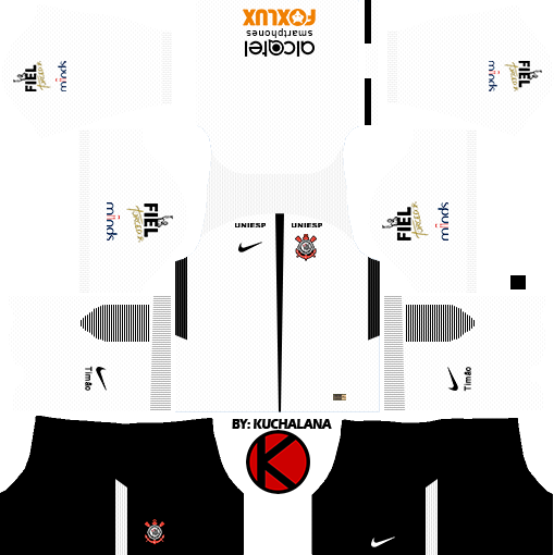 832fca47c63d7 Corinthians 2017 18 - Dream League Soccer Kits - Kuchalana