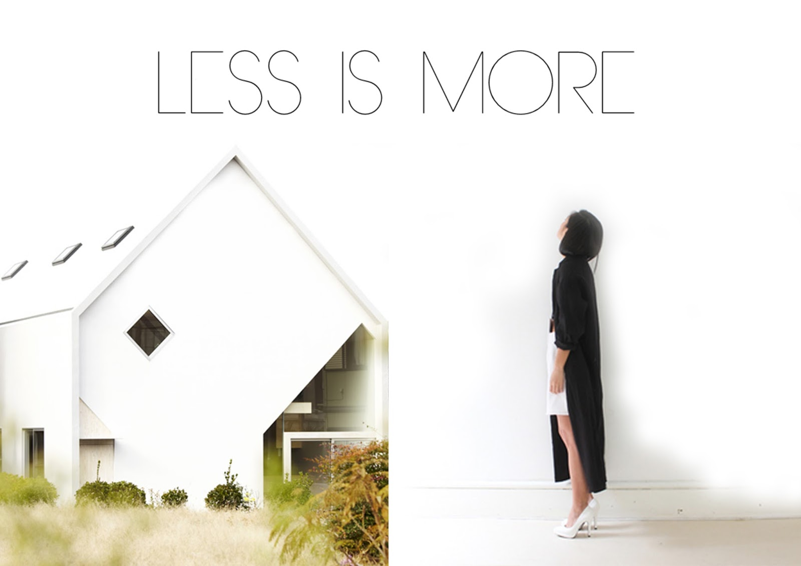 less is more moda e architettura arc art blog by