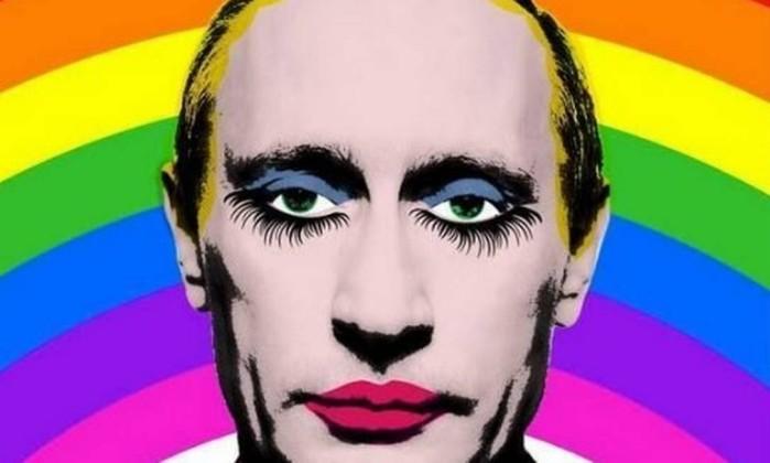 Rússia bane imagem de Vladimir Putin 'drag queen' por sugerir que ele fosse gay
