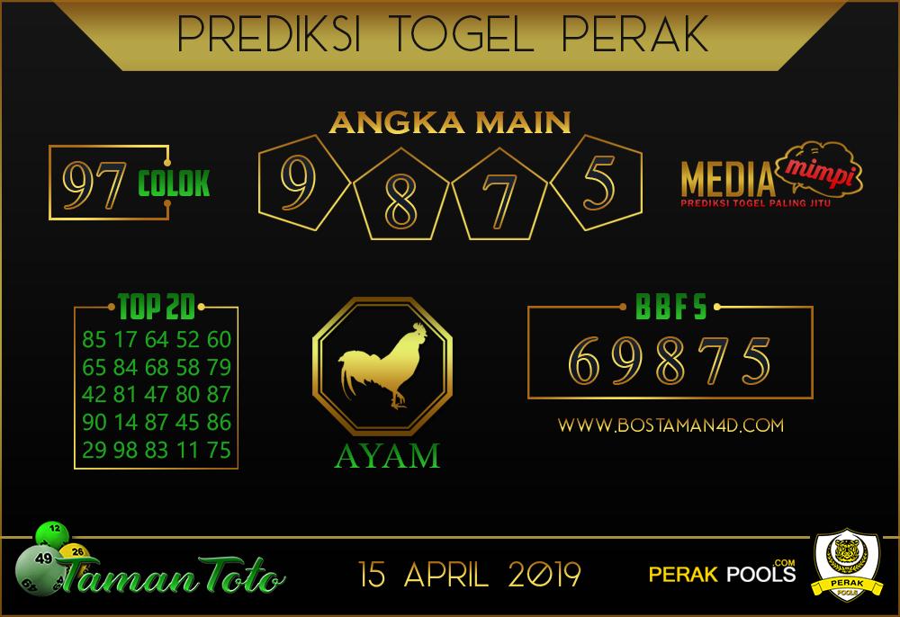 Prediksi Togel PERAK TAMAN TOTO 15 APRIL 2019