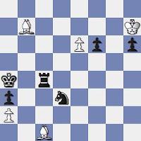 Estudio artístico de ajedrez de Vassily y Mikhail Platov, Rigaer Tageblatt – 2º Premio – 1909
