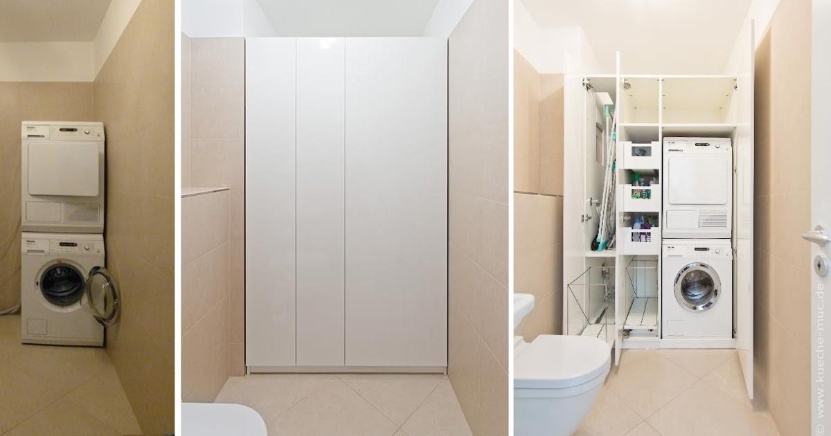 wir renovieren ihre k che einbauschrank f r waschmaschine und waeschetrockner. Black Bedroom Furniture Sets. Home Design Ideas