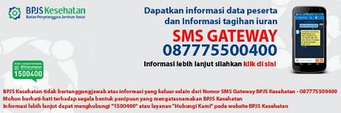 SMS Gateway BPJS Kesehatan, Cek Informasi Data Pribadi Peserta dan Tagihan Iuran