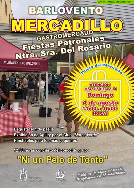 Mercadillo Barlovento Gastromercado Fiestas Patronales Ntra. Sra. del Rosario