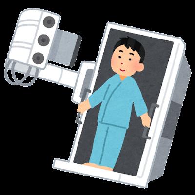 胃がん検査・バリウム検査のイラスト