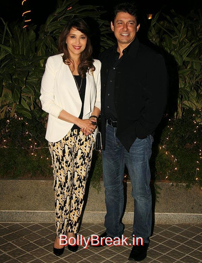Madhuri Dixit and Dr.Srirram Nene, Bollywood Celebrities At Farah Khan's GRAND 50th Birthday Party
