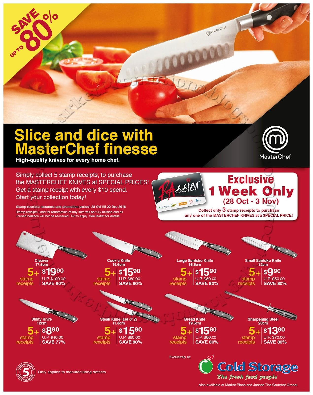 Cold Storage MasterChef Knives Special 28 October - 03 November 2016  sc 1 st  Supermarket Promotions & Cold Storage MasterChef Knives Special 28 October - 03 November 2016 ...