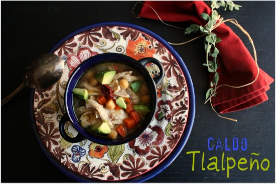 Caldo Tlalpeño (Garbanzo-Vegetable Soup w/ Smoky Broth)