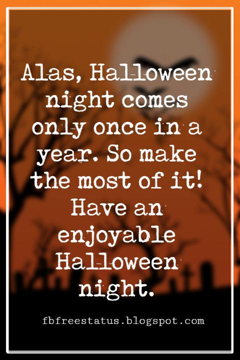 Halloween Messages, Halloween Message