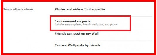 how to block comments on facebook profile