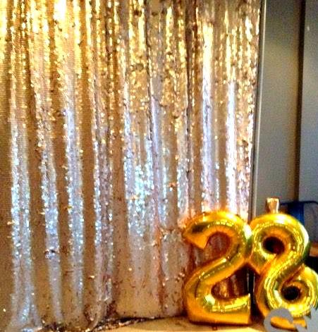 Photo booth backdrop at Opal 28 Birthday Bash.