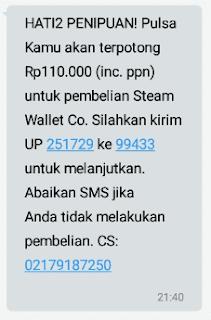 Perintah SMS dari 99433