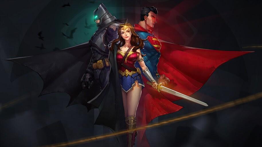 Batman, Wonder Woman, Superman, DC, Superheroes, 4K, #6.1208