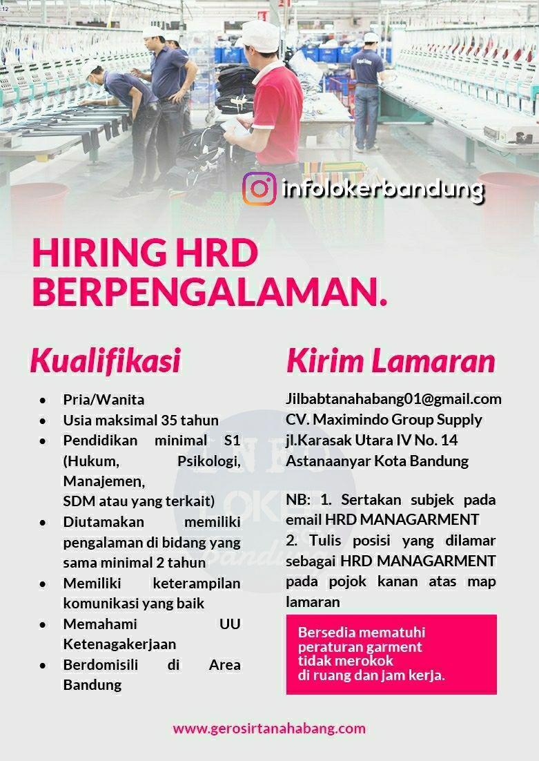 Lowongan Kerja HRD Cv Maximindo Group Mei 2018