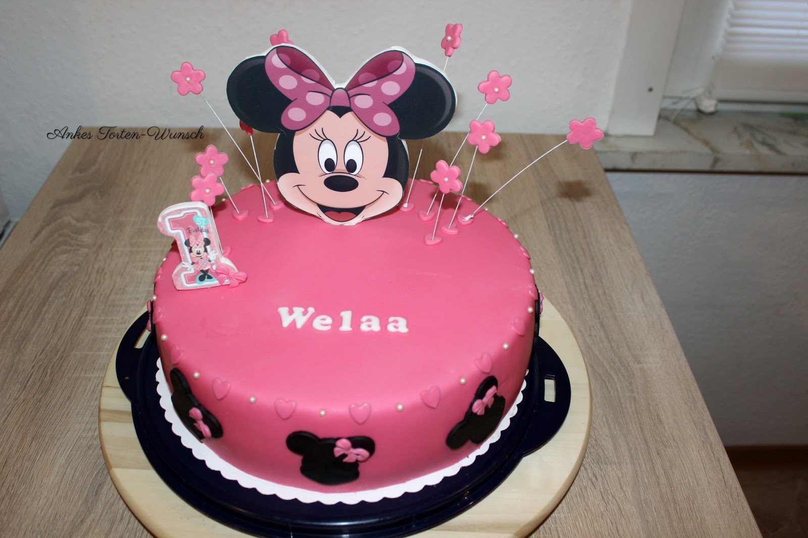 Minnie Maus 1geburtstags Torte Minnie Mouse Cake Birthday Ankes