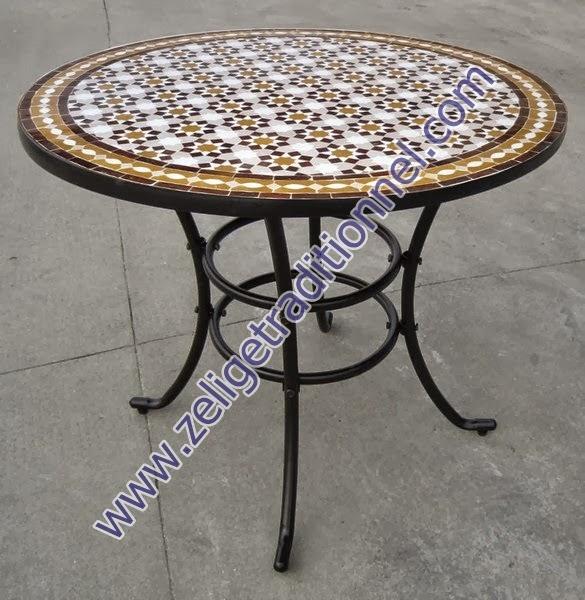 Zellige Moderne Blogspot Com Table En Mosaique Zellige De Forme