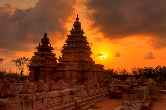 Shore temple UNESCO World Heritage Site - Mahabalipuram India - Pick, Pack, Go