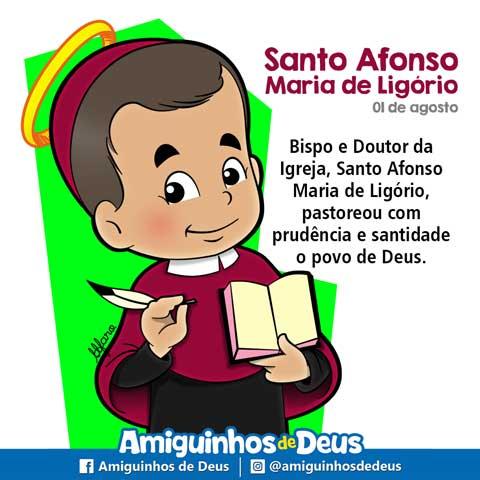 Santo Afonso Maria de Ligório desenho