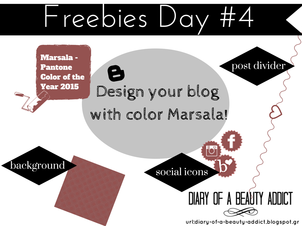 Design your blog with color Marsala!