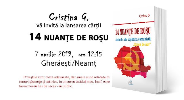 Lansarea cartii de memorii comuniste 14 nuante de rosu de Cristina G.-ajutorpentrumirabela
