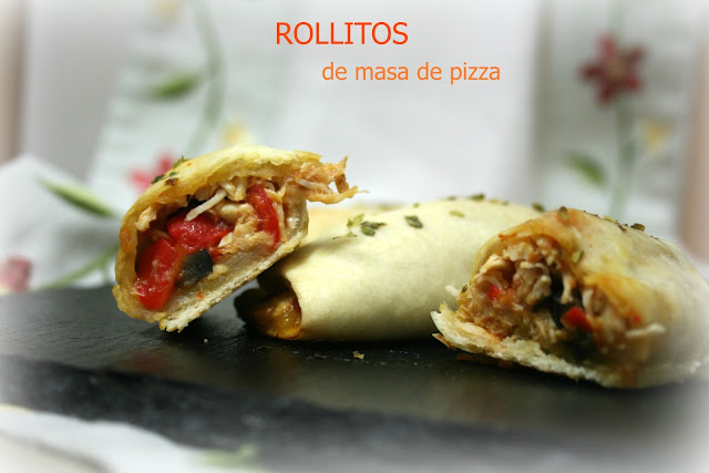 Rollitos de masa de pizza