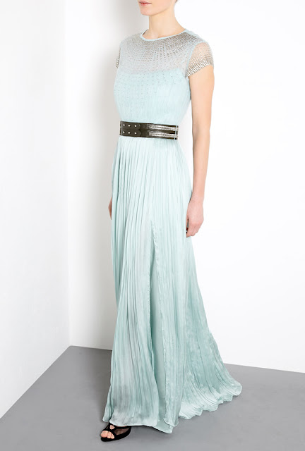 Aqua blue Catherine Deane Olga maxi dress