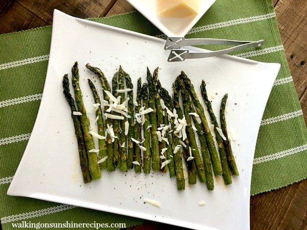 Roasted Asparagus with Parmesan Cheese from Walking on Sunshine.
