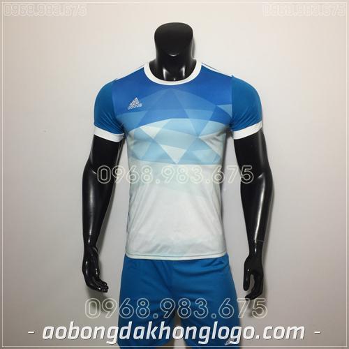 Áo Bóng Đá Ko Logo Adidas KC Xanh