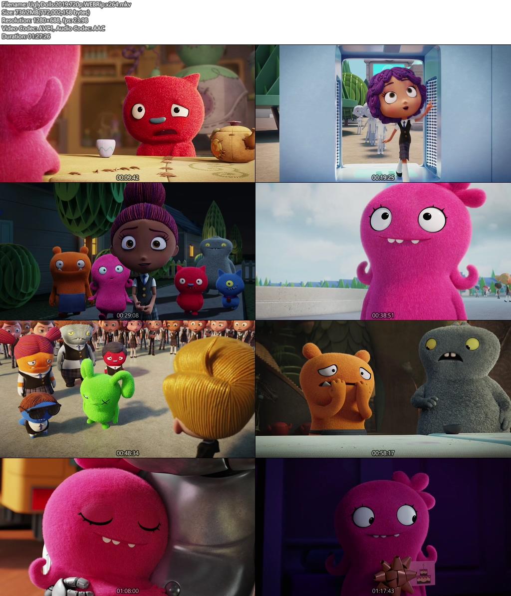 UglyDolls 2019 720p WEBRip x264 | 480p 300MB | 100MB HEVC Screenshot