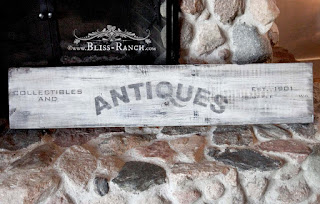 Antiques Sign, Funky Junk Old Sign Stencils, Bliss-Ranch.com