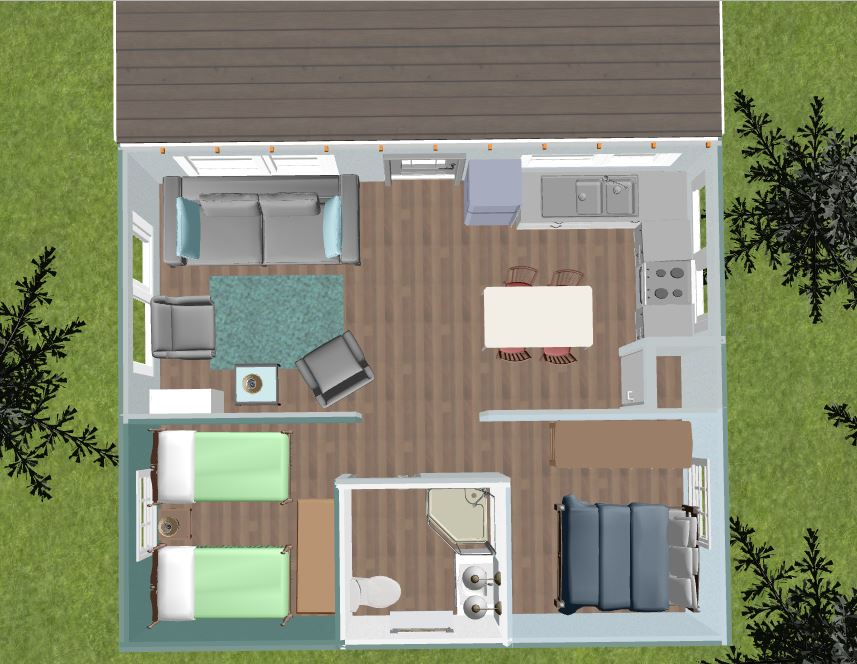DreamPlan Overhead 3D Home Design Tiny