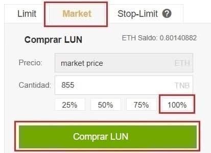 Comprar y Guardar Lunyr (LUN) Coin en Binance y Coinbase