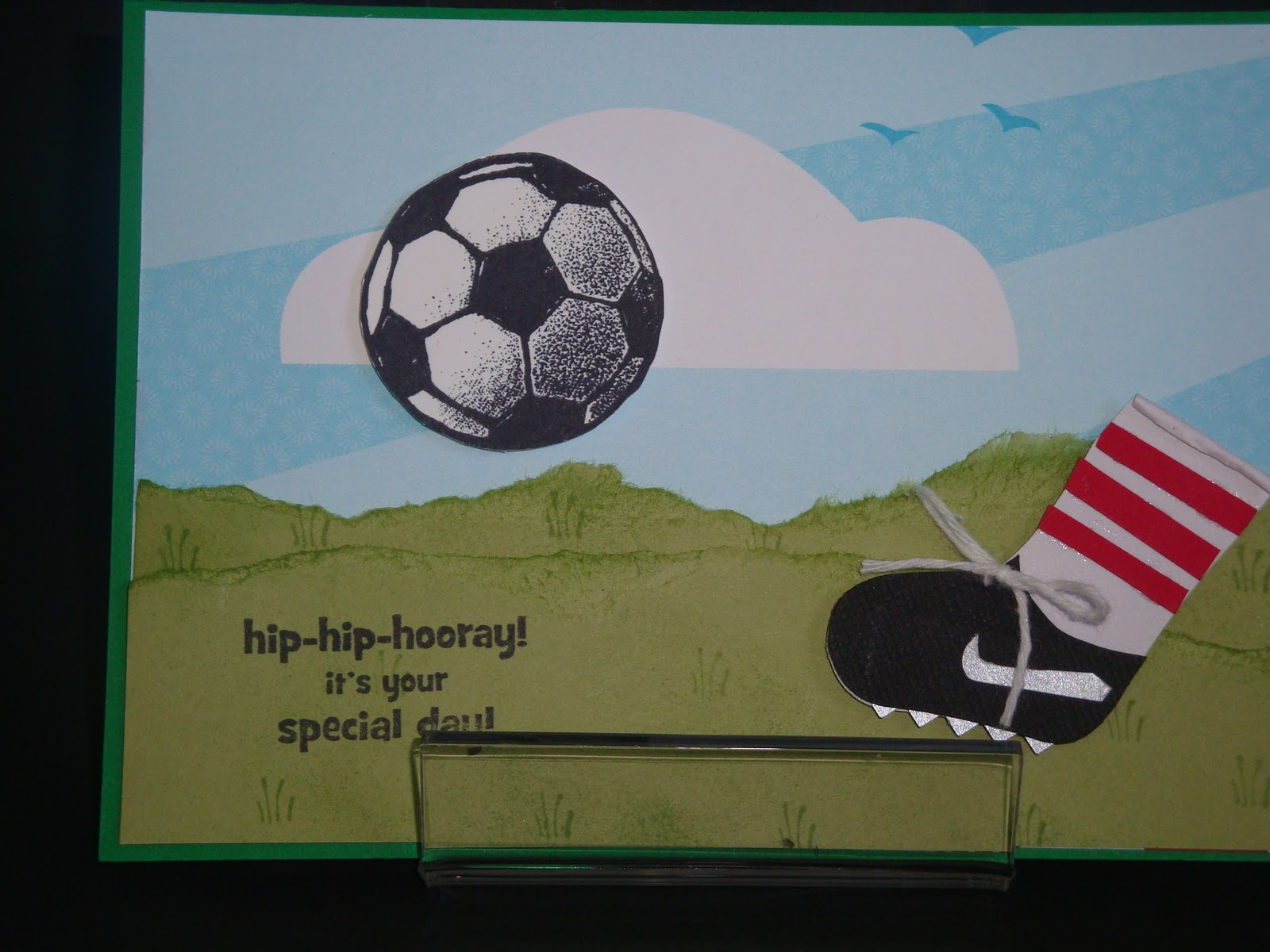 show me the love soccer card  boys birthday card, Birthday card