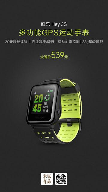 smartwatch xiaomi terbaru 2017,  smartwatch tahan air murah, smartwatch murah tapi bagus, dan Smartwatch murah 1 juta, Harga Xiaomi Hey S3,