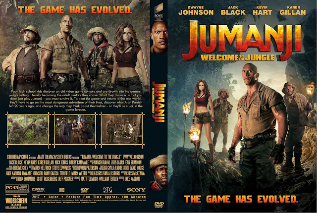 Jumanji Welcome To The Jungle DVD Cover