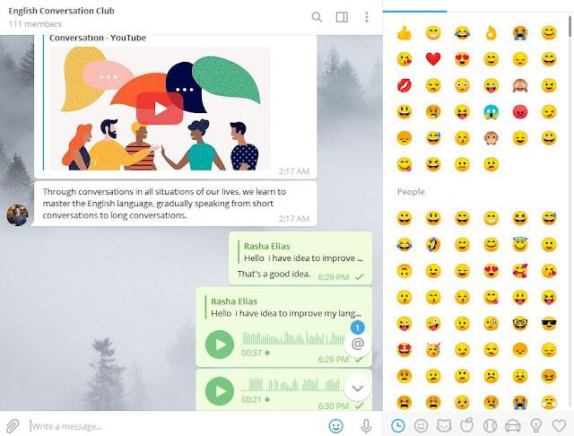 Free English Conversation Club on Telegram 2020