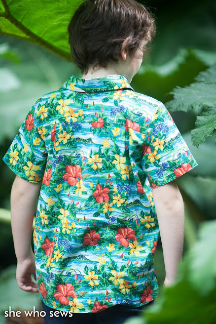 Bright floral boys shirt