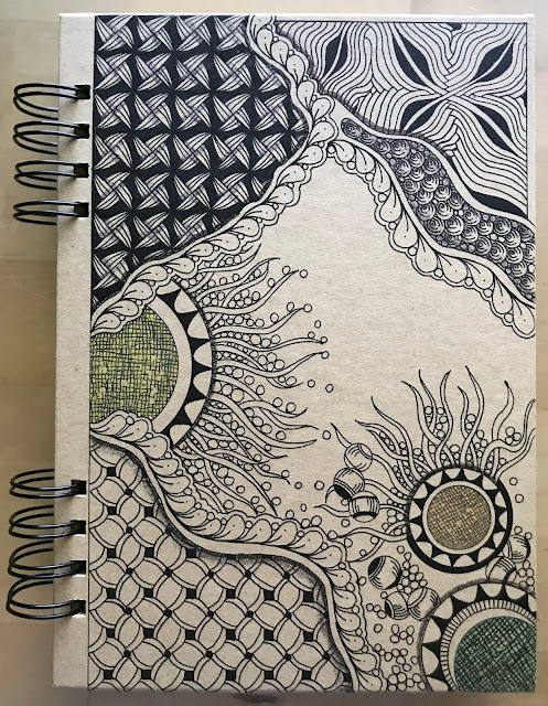Alice Hendon, product review of the Hahnemühle Kraft Sketchbook, decorated cover